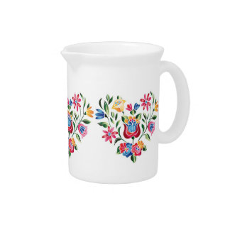 OPUS Hungarian Flower Heart Beverage Pitchers