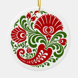 OPUS Hungarian Paprika Flower Embroidery Christmas Ornament