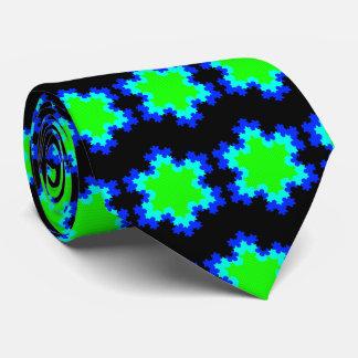 OPUS Neon Snowflakes in the Night Tie