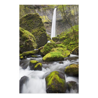 OR, Columbia River Gorge, Elowah Falls and Photo Print