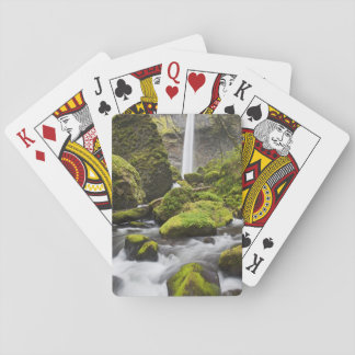 OR, Columbia River Gorge, Elowah Falls and Playing Cards