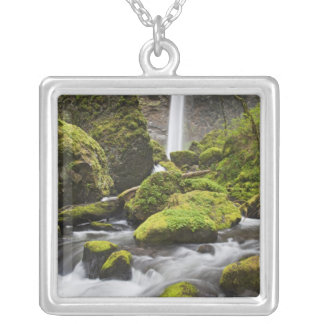 OR, Columbia River Gorge, Elowah Falls and Silver Plated Necklace