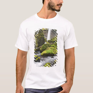 OR, Columbia River Gorge, Elowah Falls and T-Shirt