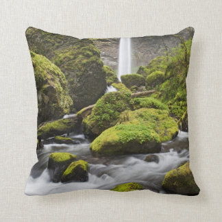 OR, Columbia River Gorge, Elowah Falls and Throw Pillow