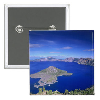 OR, Crater Lake NP, Wizard Island and Crater 15 Cm Square Badge