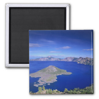 OR, Crater Lake NP, Wizard Island and Crater Square Magnet