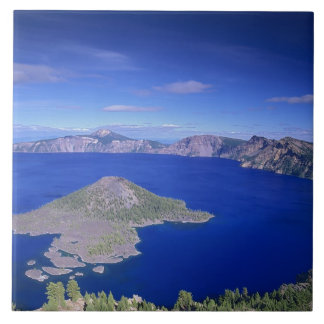 OR, Crater Lake NP, Wizard Island and Crater Tile