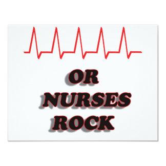 OR NURSES ROCK 11 CM X 14 CM INVITATION CARD