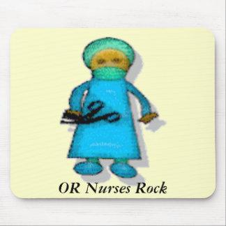 OR Nurses Rock Mouse Mat