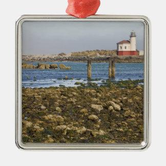 OR, Oregon Coast, Bandon, Coquille River Silver-Colored Square Decoration