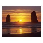 OR, Oregon Coast, Cannon Beach, seastacks at