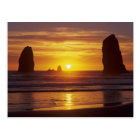 OR, Oregon Coast, Cannon Beach, seastacks at 2 Postcard