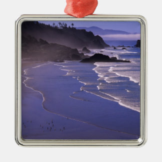 OR, Oregon Coast, Ecola SP, Indian Beach with Christmas Ornament