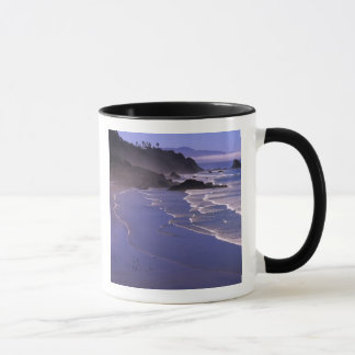 OR, Oregon Coast, Ecola SP, Indian Beach with Mug