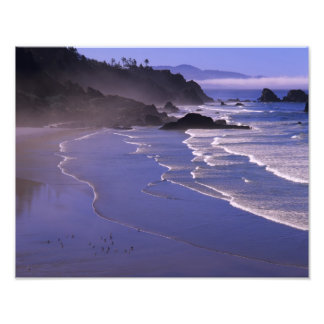 OR, Oregon Coast, Ecola SP, Indian Beach with Photo
