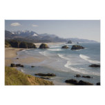 OR, Oregon Coast, Ecola State Park, Crescent Poster
