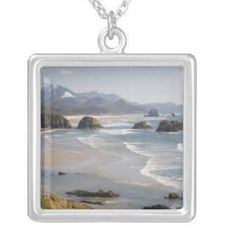 OR, Oregon Coast, Ecola State Park, Crescent Silver Plated Necklace