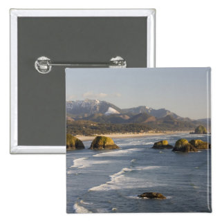 OR, Oregon Coast, Ecola State Park, view of 2 15 Cm Square Badge