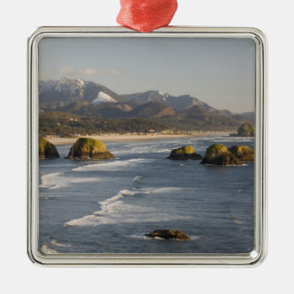 OR, Oregon Coast, Ecola State Park, view of 2 Christmas Ornament