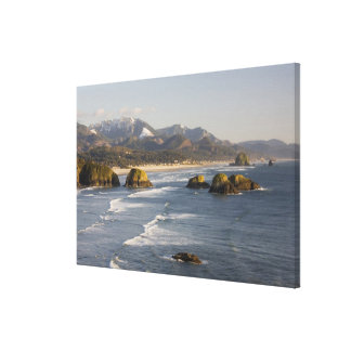 OR, Oregon Coast, Ecola State Park, view of Canvas Print