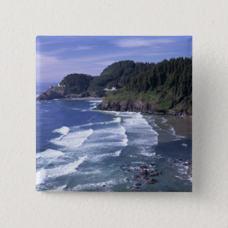 OR, Oregon Coast, Heceta Head Lighthouse, on 15 Cm Square Badge