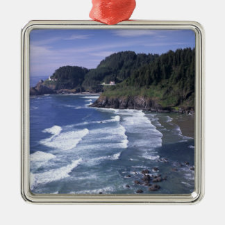 OR, Oregon Coast, Heceta Head Lighthouse, on Christmas Ornament