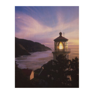 OR, Oregon Coast, Heceta Head Lighthouse on Wood Wall Art