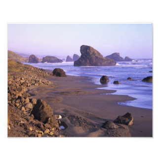 OR, Oregon Coast, Myers Creek, rock formations Photo Print