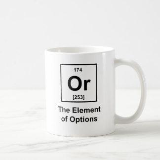 Or, The Element of Options Basic White Mug