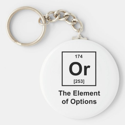 Or, The Element of Options Key Chain