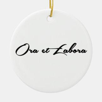 Ora et Labora Christmas Ornament