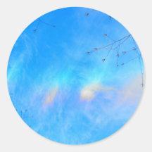 Ora in the Sky Classic Round Sticker