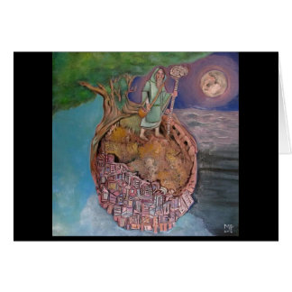 Oracles of a Petrified Planet Greeting Card
