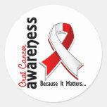 Oral Cancer Awareness 5 Round Sticker