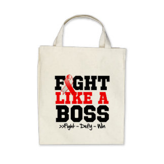 Oral Cancer Fight Like a Boss Tote Bags