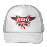Oral Cancer Fight Like a Girl Wings.png Hat