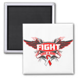 Oral Cancer Fight Like a Girl Wings.png Fridge Magnets