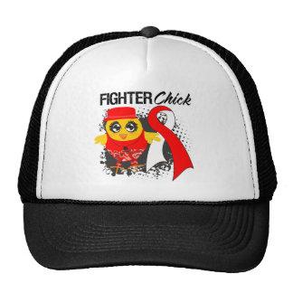 Oral Cancer Fighter Chick Grunge Hats