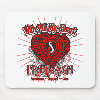 Oral Cancer Heart I Fight Like A Girl Mousepad