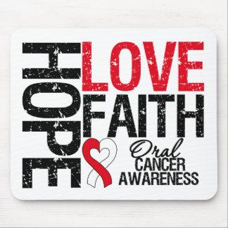 Oral Cancer Hope Love Faith Mouse Pad