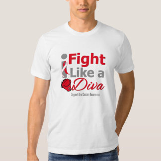 Oral Cancer I Fight Like a Diva T Shirt