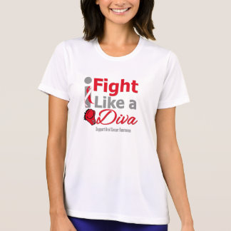 Oral Cancer I Fight Like a Diva T-shirts