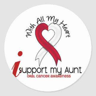 ORAL CANCER I Support My Aunt Sticker