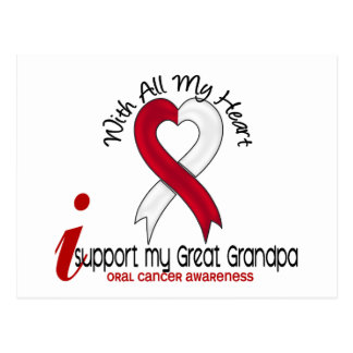 ORAL CANCER I Support My Great Grandpa Postcard