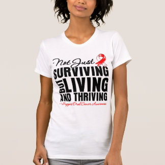 Oral Cancer Not Just Surviving But Living T-Shirt
