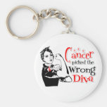 Oral Cancer Picked The Wrong Diva Keychains