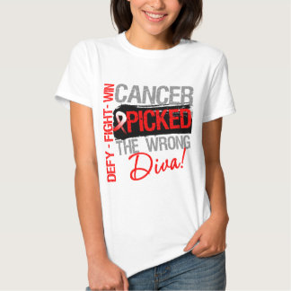 Oral Cancer Picked The Wrong Diva Shirt