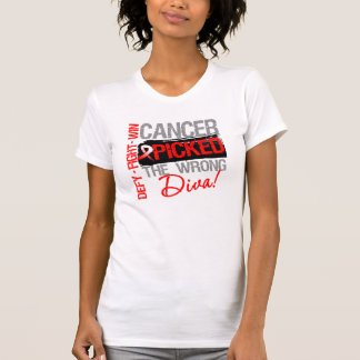 Oral Cancer Picked The Wrong Diva T Shirt