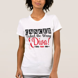 Oral Cancer Picked The Wrong Diva v2 T-shirts