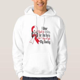 Oral Cancer Ribbon Hero My Daddy Hoodie
